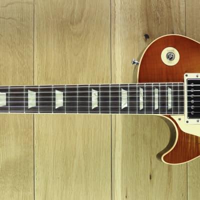 Gibson Custom 60th Anniversary 1959 Les Paul Standard Gloss Sunrise Tea Burst Left Handed Hand Picked 993425 for sale