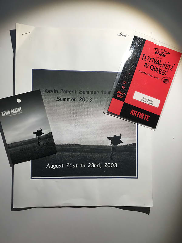 LOT - Kevin Parent Tour Passes & Itinerary Booklet (Tony's copy)