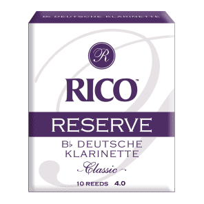 Rico RCR1040D Reserve Classic German Bb Clarinet Reeds - Strength 4.0 (10-Pack)