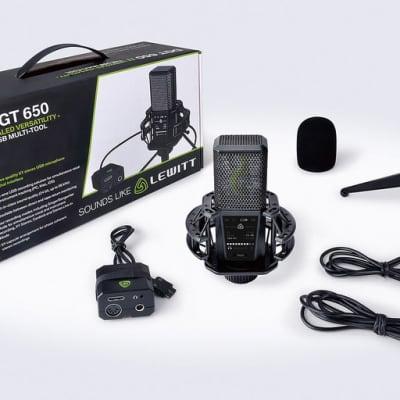 Lewitt DGT650 USB Stereo Microphone for MAC, PC, & iOS recording