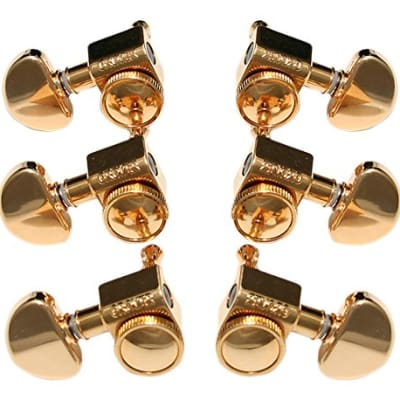 Grover 502G Roto-Grip Locking Roto-Matic Tuners 3Lx3R Gold Free Shipping