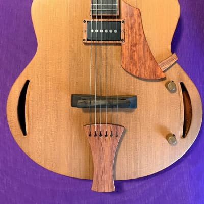 Lehtela Jazz Tango—lightweight, solid-wood, fingerstyle jazz guitar with case for sale