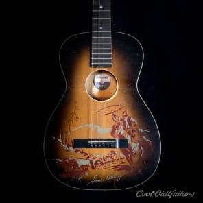 Vintage 1940s-50s Supertone Gene Autry Acoustic Guitar with Kluson Tuners - Excellent Condition for sale