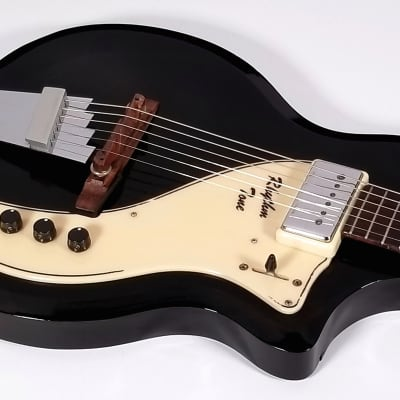 """1962 English Electronics """"Tonemaster"""" guitar, Valco Supro, gleaming black, all orig, very clean! for sale"""