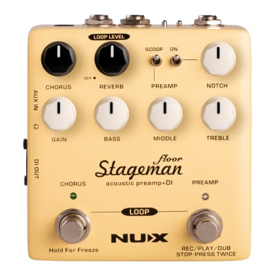 NuX Stageman Floor Acoustic Preamp & DI Brand New