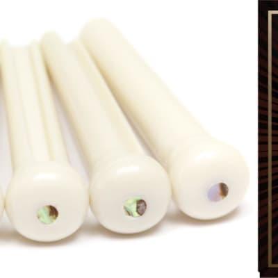 D'Addario NB1253 Nickel Bronze Acoustic Strings .012-.053 Light + Graph Tech PP-1182-00 TUSQ Traditional Style Bridge Pi