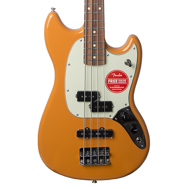 fender offset series mustang bass pj with pao ferro fretboard | reverb
