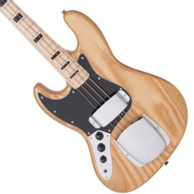 NEW! Vintage Brand Maple Board LVJ74NAT Left-Handed Natural J bass lefty