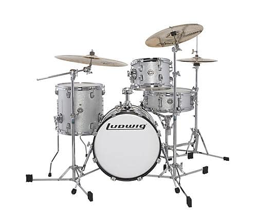 ludwig breakbeats by questlove 4 piece shell pack white reverb. Black Bedroom Furniture Sets. Home Design Ideas