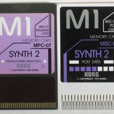 Korg M1 Synth 2 memory card MSC-07 & MPC-07 for M-1/M1R