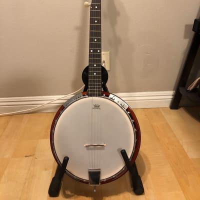 Ktone 5-string Banjo w/ tweed hardshell case for sale