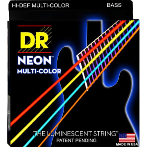 DR NMCB-40 Neon Multi-Colored Bass Strings (40-100)