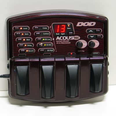 DOD Acoustic Guitar Multi Effects Preamp Floor Pedal w/ AC Adapter    Acoustec for sale