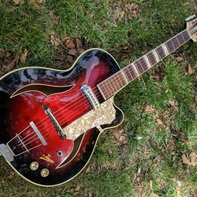 Isana  Archtop , Bizarre German  1960s  Sunburst for sale