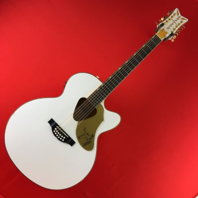 [USED] Gretsch G5022CWFE-12 Rancher Falcon 12-String Acoustic-Electric Guitar, White (See Descriptio