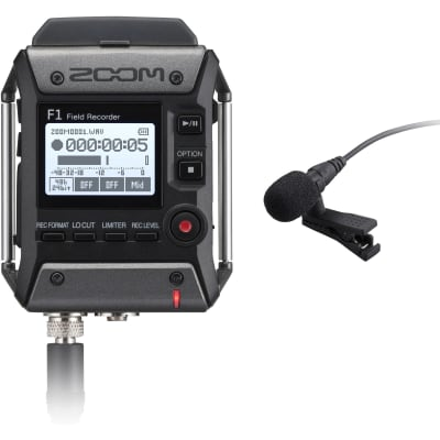 Zoom F1-LP Field Recorder/Lavalier Microphone Package