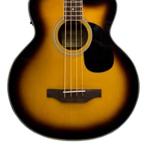 Beaver Creek BCB05CEVSB Acoustic/Electric Bass Cutaway Guitar Vintage Sunburst for sale