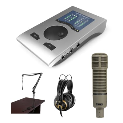 RME Babyface Professional Podcast Kit with Electro-Voice RE20 Broadcast Mic, AKG K 240 Studio Pro Headphones & Boom Arm Bundle