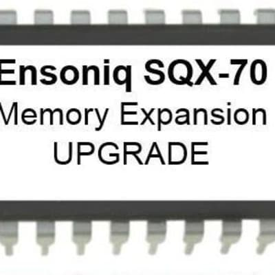 Ensoniq SQX-70 sequencer expansion memory upgrade kit TS-10, TS-12, SD-1, VFX-sd, KS-32, SQ-1, SQ-2