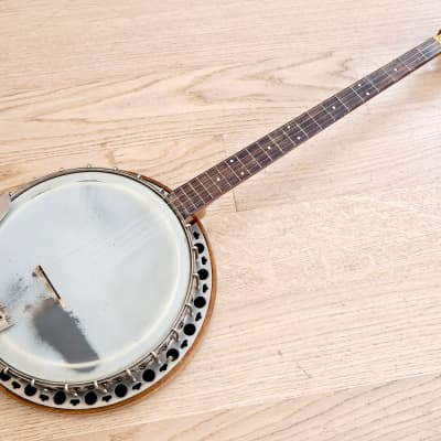 1930s Paramount W. M. L. Lange Vintage 21 Fret Plectrum Banjo w/ Resonator, Case for sale