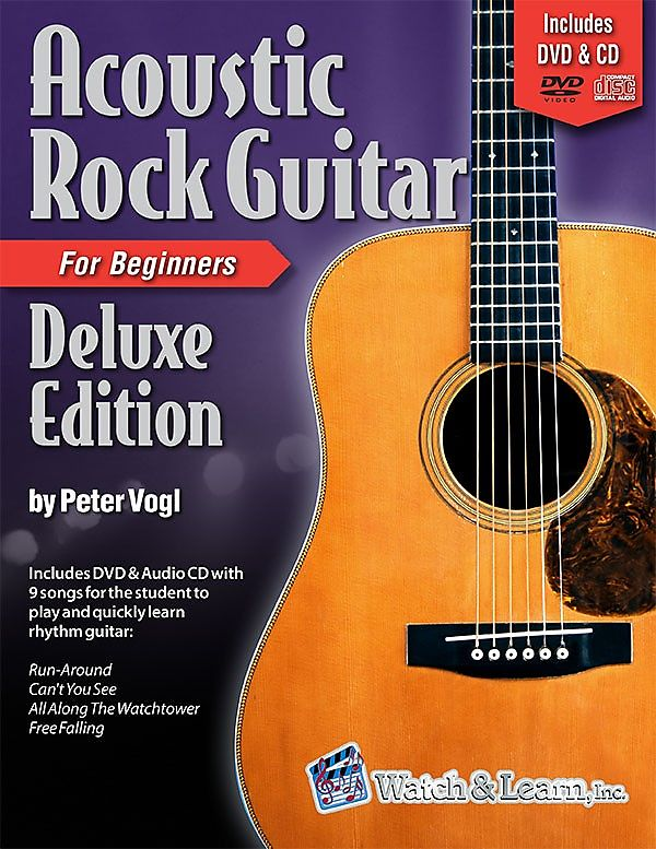 Watch & Learn Acoustic Rock Guitar for Beginners book/CD/DVD