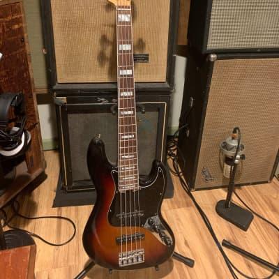 Fender American Elite Jazz Bass V - Aguilar 60's Pickups and OBP-3 Preamp, Passive/Active, Sunburst for sale