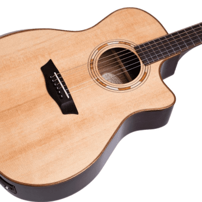 Washburn WCG20SCE Comfort Series Grand Auditorium Cutaway Solid Spruce Top 6-String Acoustic Guitar