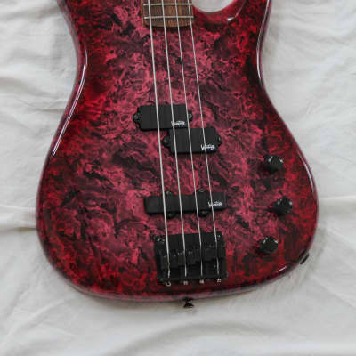 1981 Vantage 525B PJ Rare Made in Japan Vintage 4 String Bass - Purple Red Nebula + Hard Case for sale