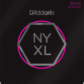 D'Addario NYXL0942-3P Nickel Wound Electric Guitar String 3-Pack, Super Light Gauge