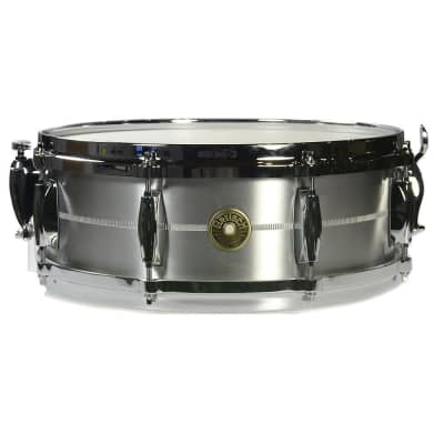 "Gretsch G4160SA USA Solid Aluminum 5x14"" 8-Lug Snare Drum"