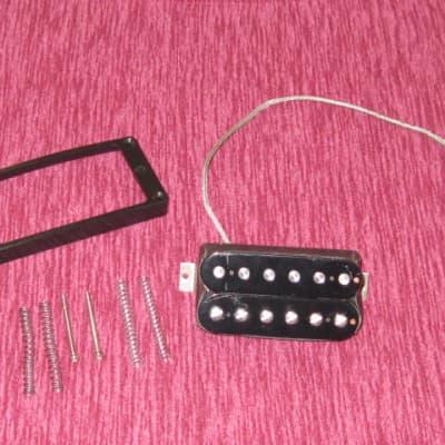 used Gibson 498T Hot Alnico Bridge Humbucker Pickup BLACK +springs,screws,black ring, SOLDER CONNECT