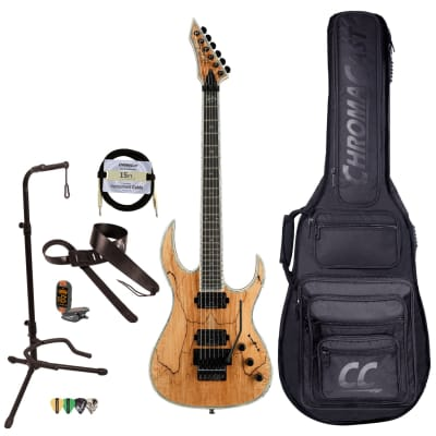 BC Rich Guitars Shredzilla Prophecy Archtop Electric Guitar with Floyd Rose, Case, Strap, and Stand, Spalted Maple for sale