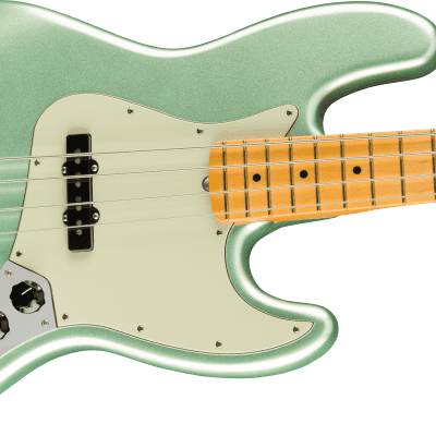 Fender American Professional II Jazz Bass Mystic Surf Green 2021 with Fender case