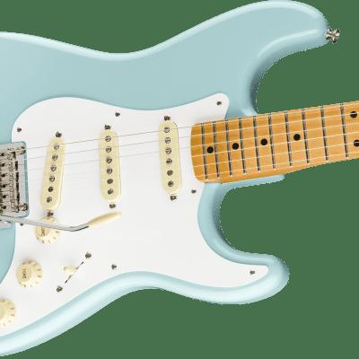 NEW! Fender Vintera '50s Stratocaster Modified Maple Board Daphne Blue Authorized Dealer Gig Bag!