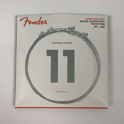 Fender Super Bullets Nickel Plated Steel Guitar Strings Bullet End, .011-.049