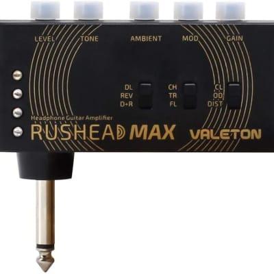 Valeton Rushead Max USB Chargable Portable Pocket Guitar Headphone Amp Carry-On Bedroom Plug-In Mult