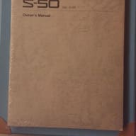 Roland S-50 Owner's Manual