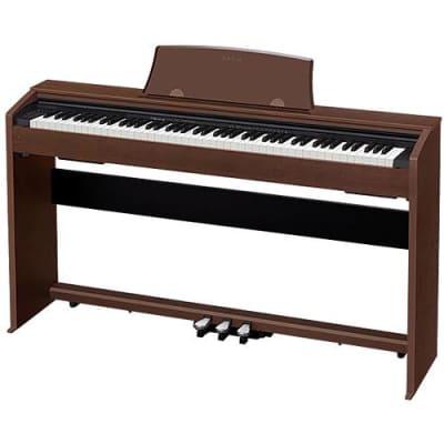 Casio Music PX-770 Privia 88-Key Digital Console Piano with 2x 8W Amplifiers, Walnut