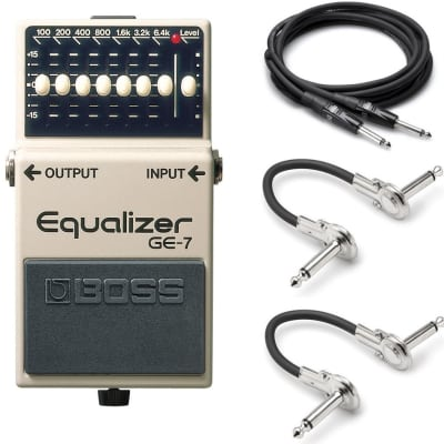 Boss GE-7 Equalizer Graphic EQ Pedal w/ Hosa Cables! image