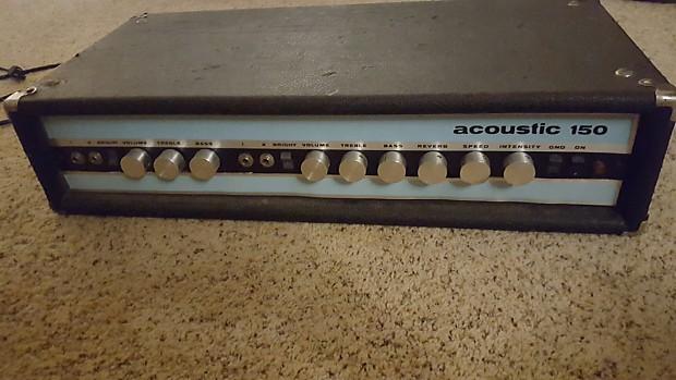 acoustic 150 guitar amp head vintage w reverb and tremolo usa reverb. Black Bedroom Furniture Sets. Home Design Ideas