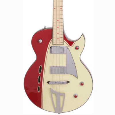 Backlund Rockerbox Bass - Red/Creme for sale