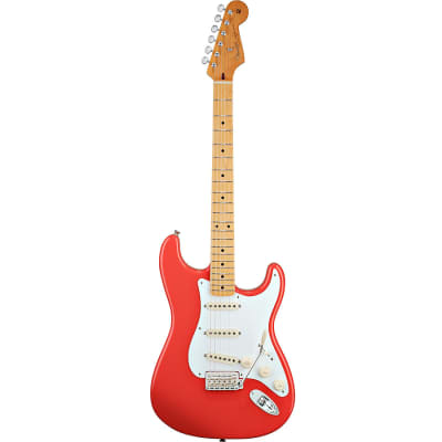 Fender Classic Series 50s Stratocaster Electric Guitar - Fiesta Red image