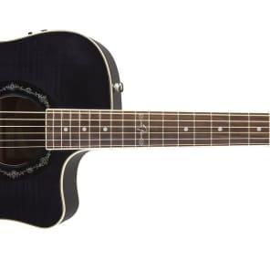 Fender T-Bucket 300CE Flamed Maple/Mahogany Cutaway Dreadnought w/ Electronics Transparent Black