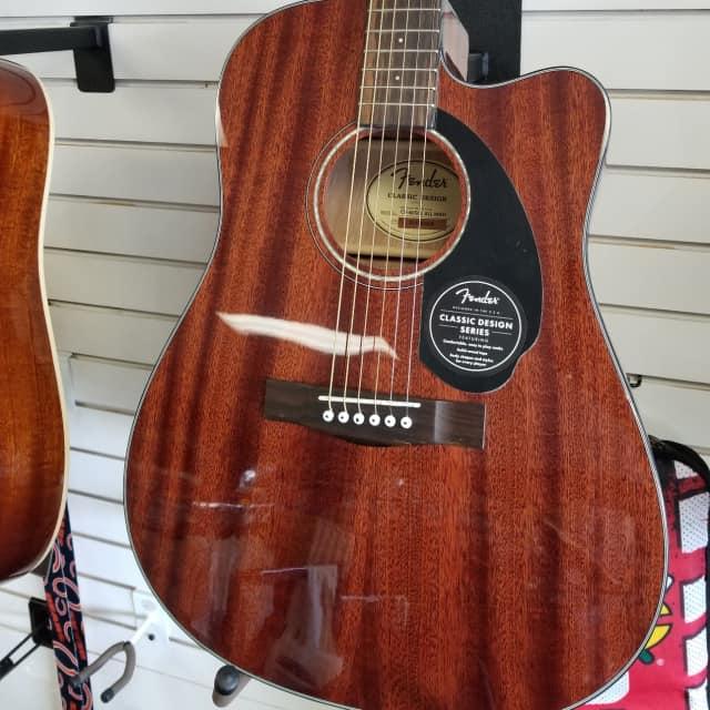 Fender CD-60CSE Acoustic Electric Dreadnaught Guitar 2018 Mah image