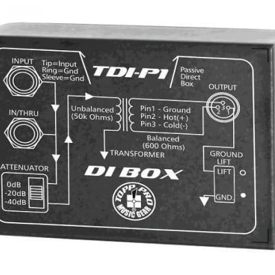 New Topp Pro TDI-P1 Passive Direct Injection DI Box