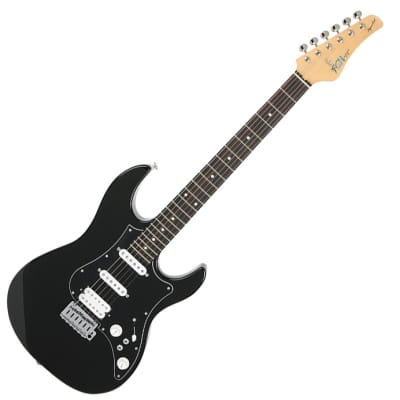 Fujigen Expert Odyssey Electric Guitar EOS-AL-R Black Color SSH for sale