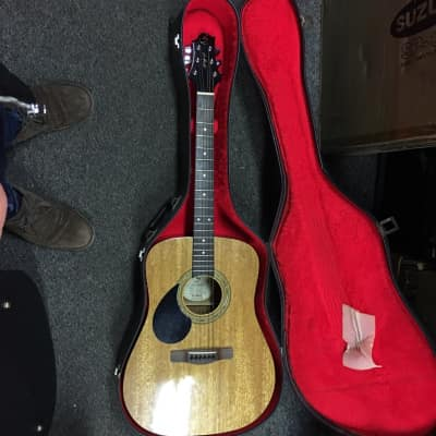 Samick D-1/LH Left-handed Acoustic Guitar with Case for sale