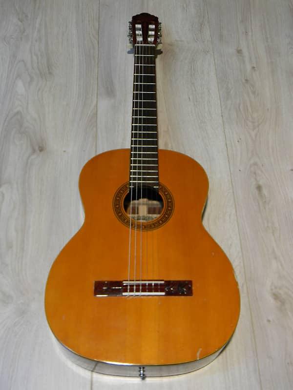 vintage GREEN HILL G-180 KLASSIKGITARRE 4/4 Klassik Gitarre interessant 1970` image