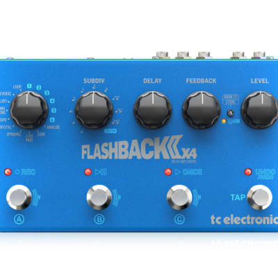 TC Electronic FLASHBACK 2 X 4 Crystal Analog and Tape Delay Pedal