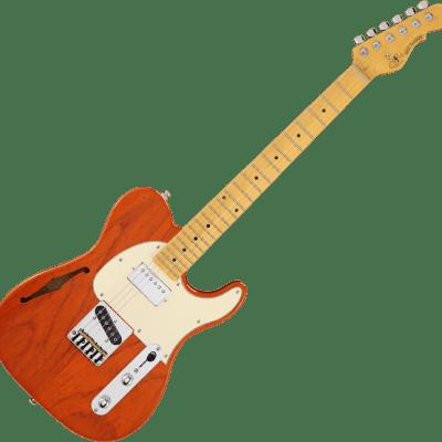 G&L Tribute Series ASAT Classic Bluesboy Semi-Hollow with Rosewood Fretboard 2020 Clear Orange